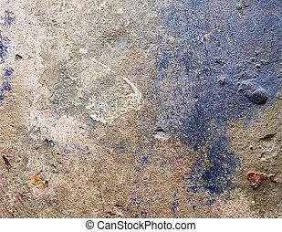 beton, achtergrond, grunge