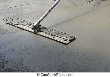 beton, afwerking, vloer