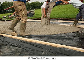 beton, het leggen