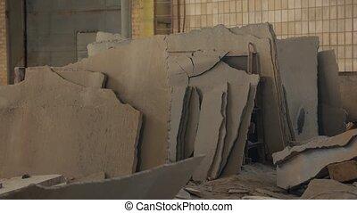 beton, kapot, binnen