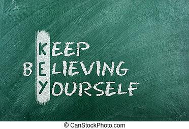 bewaren, het geloven, je