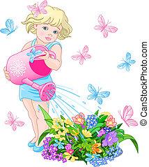 bewaterende bloemen