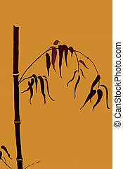 beweegreden, bamboe, vector, -, japanner