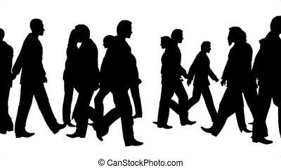 bewegingen, mensenmassa