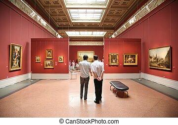 bezoekers, museum