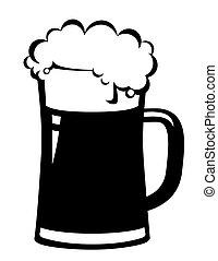 bier, black , mok