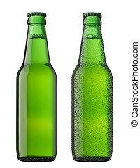 bier bottelt, twee