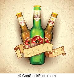 bier fles, lint