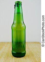 bier, groene, fles