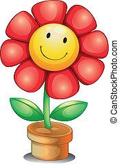 binnen, bloem pot