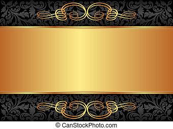 black , goud, achtergrond