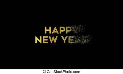 black , goud, jaarwisseling, 2020, vuurwerk, nacht, achtergrond