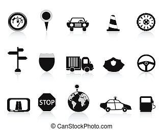 black , pictogram, verkeer