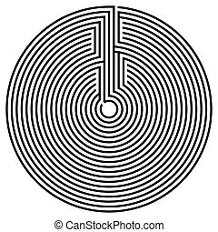 black , ronde, labyrint