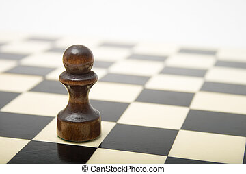 black , schaakspel, pion, plank