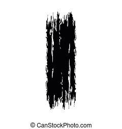 black , slag, geverfde, borstel, ontwerp, textured