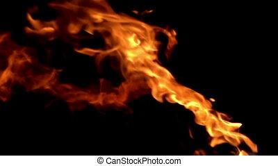 black , vlammen, achtergrond