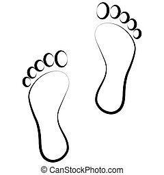 black , voetafdruk