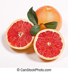 blad, grapefruit, groene, rijp