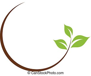 blad, logo, organisch