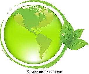 bladeren, aarde, groene