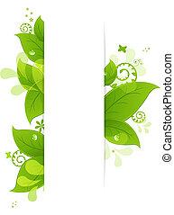 bladeren, druppels, natuurlijke , achtergrond