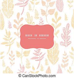 bladeren, herfst, model, achtergrond, frame, textured, seamless, textiel