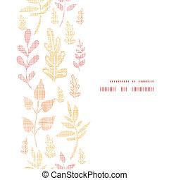 bladeren, herfst, model, achtergrond, frame, verticaal, textured, seamless, textiel