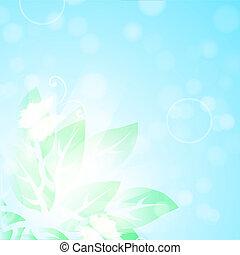 blauw loof, groene, vlinder, achtergrond