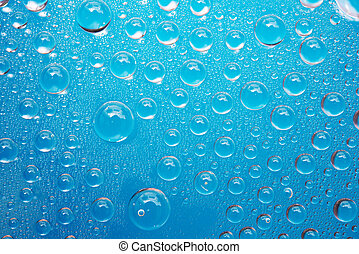 blauw water, abstract, achtergrond, droplets