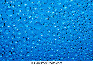 blauw water, druppels