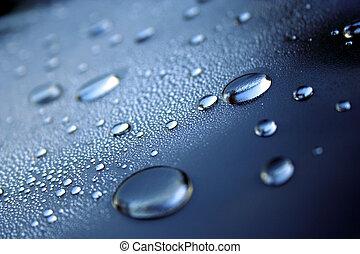 blauw water, koel, droplets