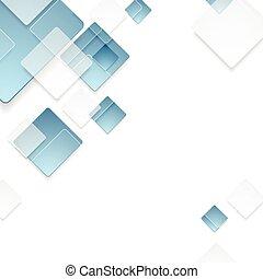blauwe , abstract, technologie, ontwerp, geometrisch, pleinen