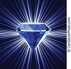 blauwe , achtergrond., helder, diamant, vector