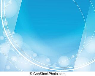 blauwe achtergrond, licht, frame, ontwerp, mal, golven