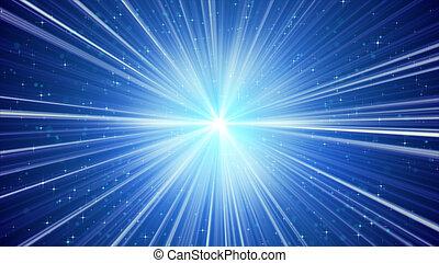 blauwe achtergrond, sterretjes, licht, het glanzen, stralen