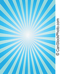 blauwe achtergrond, sunray