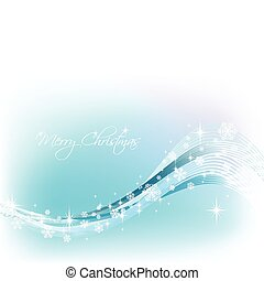 blauwe , achtergrond., vector, sneeuwvlok