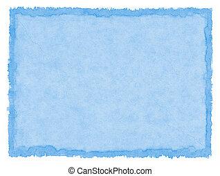 blauwe , bevlekte, papier