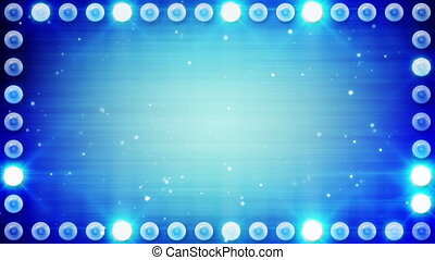 blauwe , bloembollen, frame, verlichting, lus