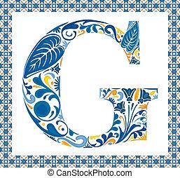 blauwe , brief g