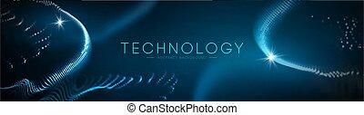 blauwe , concept., vector., technologie, abstract, illustratie, wetenschap, geometrisch, technologie, achtergrond, design., zakelijk, futuristisch, netwerk