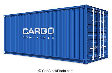 blauwe , de container van de lading
