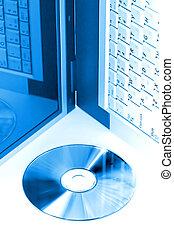 blauwe , digitale