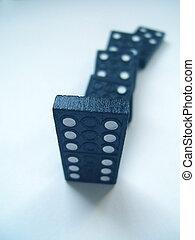 blauwe , domino
