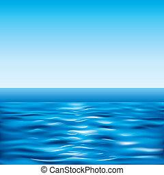 blauwe , duidelijke lucht, zee