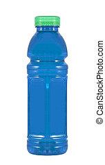 blauwe , energie, drank, fles, plastic