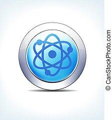 blauwe , farmaceutisch, &, nucleair, knoop, radioactief, gezondheidszorg, pictogram, bleek, symbool