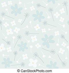 blauwe , floral, seamless, model