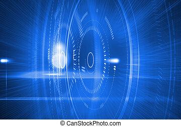 blauwe , futuristisch, cirkels